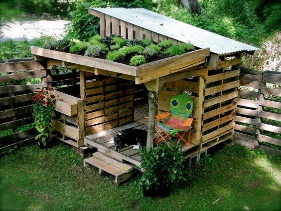 Arredo creativo giardino con i pallet ? Idea n? 1