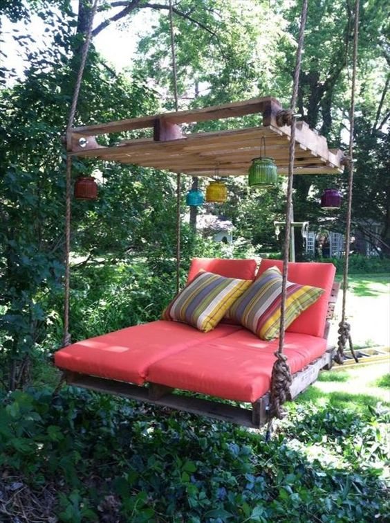 Arredo creativo giardino con i pallet – Idea n° 8