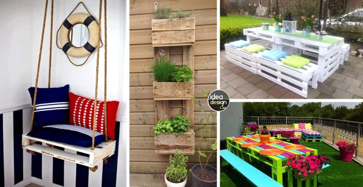 Decorare le scale esterne con i fiori 20 idee creative - Arredo giardino con pallet ...