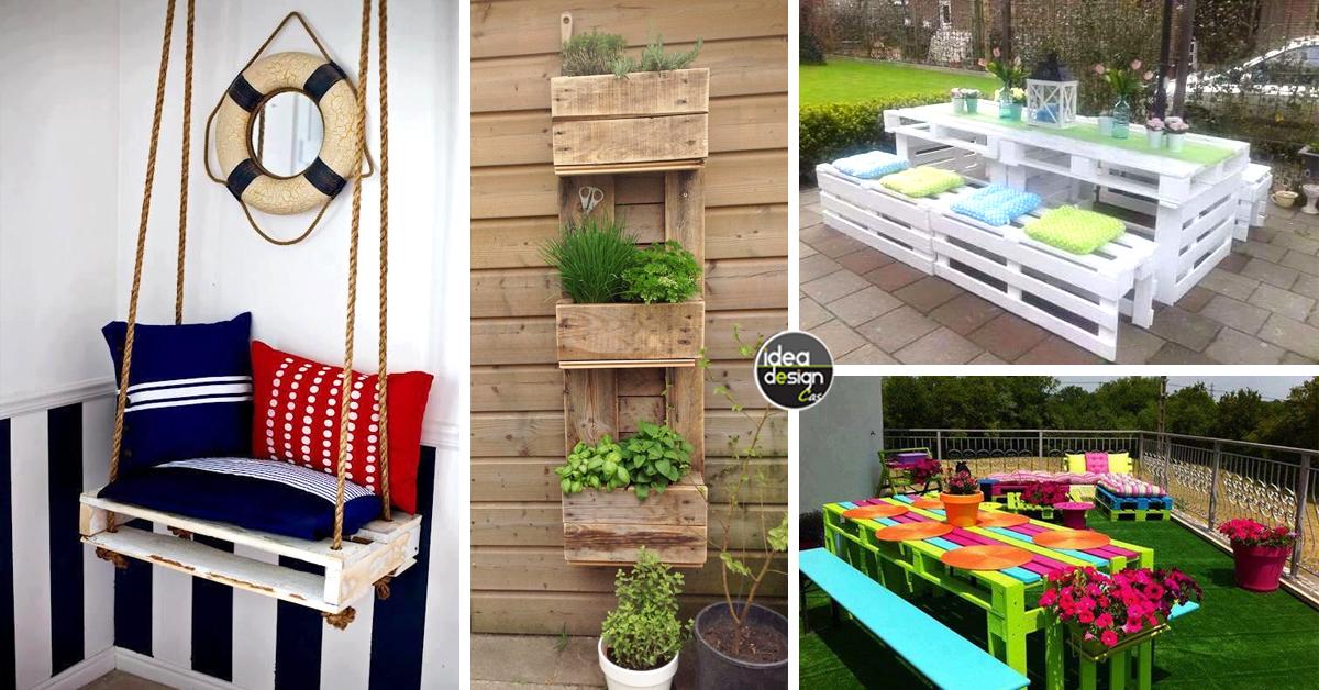 Arredare il giardino con i pallet 20 idee per un riciclo - Giardino pallet ...