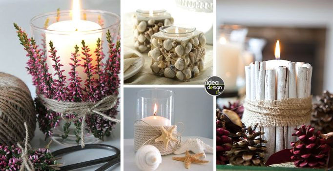 Decorazioni candele fai da te 20 idee per abbellire casa in modo creativo - Decorazioni per feste fai da te ...