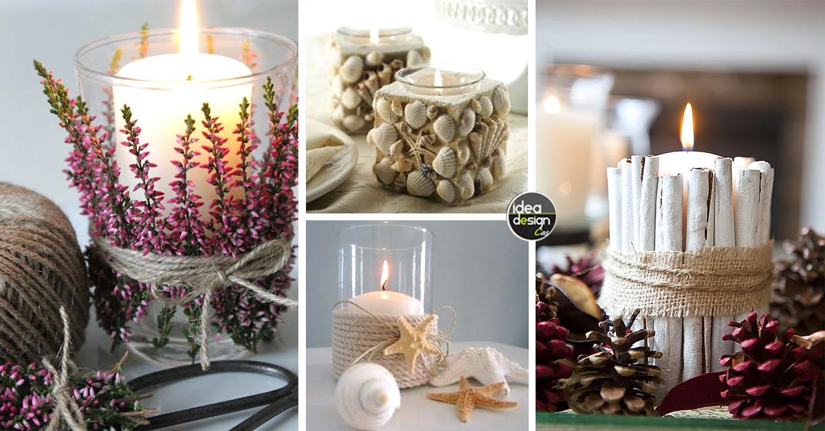 Decorazioni candele fai da te 20 idee per abbellire casa in modo creativo - Portacandele natalizi fai da te ...