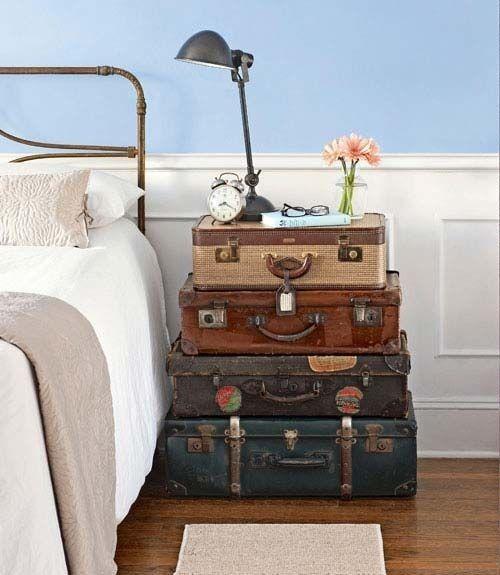 Favoloso Comodino fai da te con vecchia valigia! Ecco 20 idee MG72