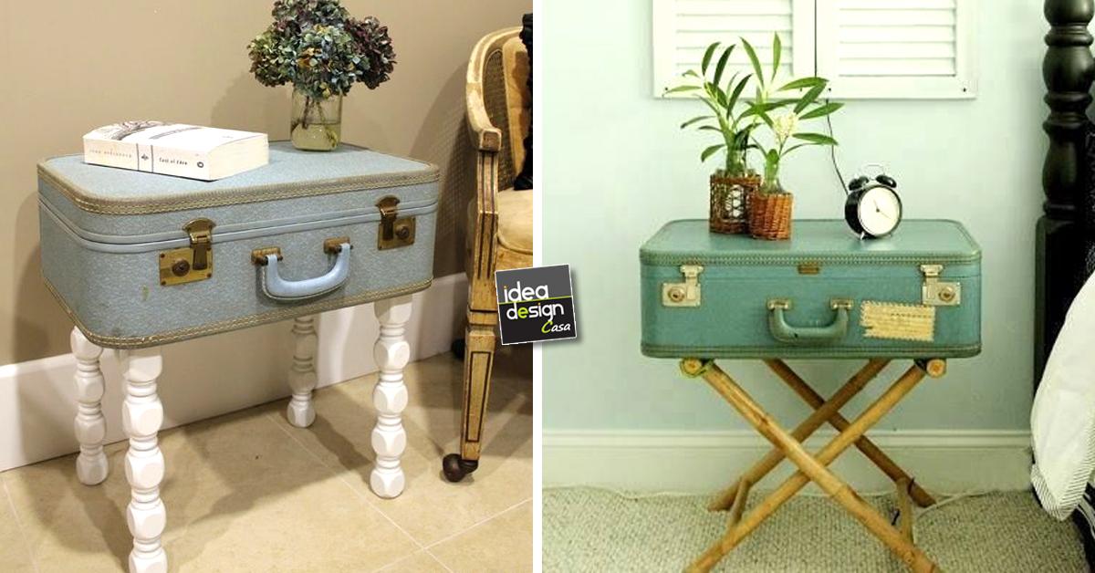 Comodino fai da te con vecchia valigia ecco 20 idee for Design casa fai da te
