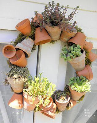 Decorazioni originali con i vasi in terracotta 20 idee - Decorazioni per giardini ...