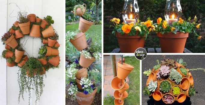 Decorazioni originali con i vasi in terracotta 20 idee fai da te facile da - Vasi terracotta da giardino ...