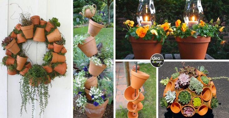 Salotti da giardino con pallet ecco 20 idee - Decorare vasi terracotta ...