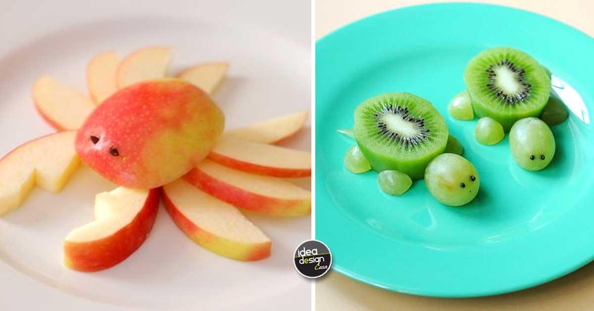 Piatto di frutta creativo 20 idee per servire la frutta - Decorazioni con frutta essiccata ...