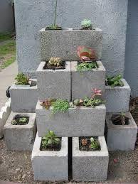 Blocchi di cemento fioriti 20 idee per decorare il for Aiuola piante grasse