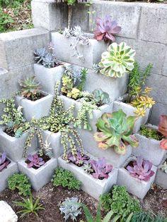 fioriera blocchi di cemento 3