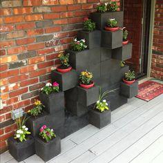 fioriera blocchi di cemento 5