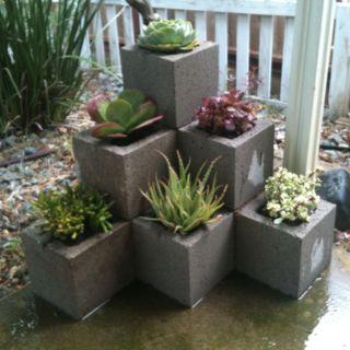 fioriera blocchi di cemento 7