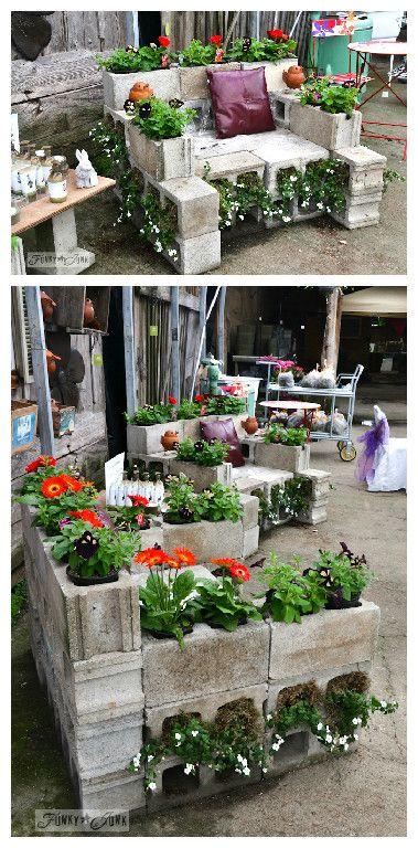 fioriera blocchi di cemento 9