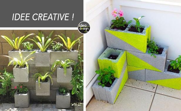 Blocchi di cemento fioriti! 20 idee per decorare il giardino...