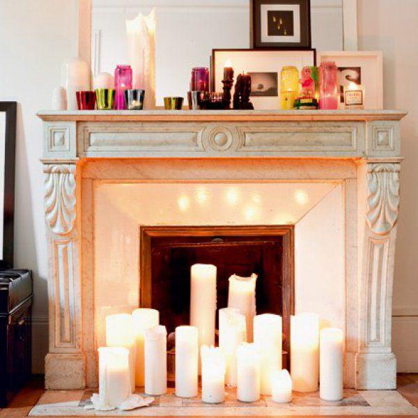 decorare il camino d 39 estate ecco 20 idee creative. Black Bedroom Furniture Sets. Home Design Ideas