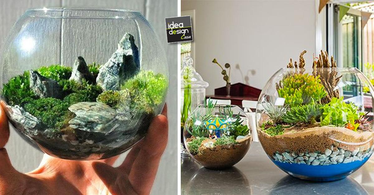 Giardini in miniatura fai da te ecco 20 idee creative - Idee per giardini di casa ...