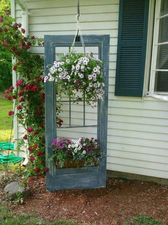 upcycling puertas viejas para decorar el jardn u idea