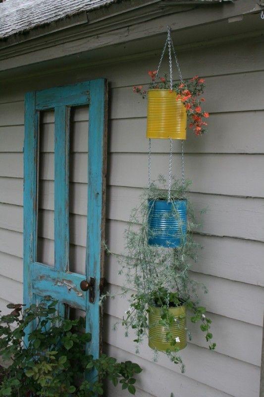 Riciclo creativo vecchie porte per decorare il giardino – Idea n ...
