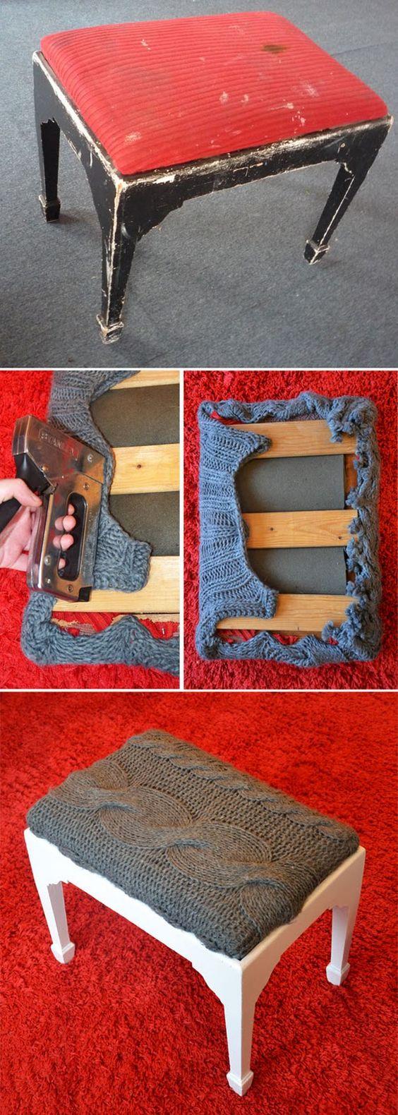 riciclo creativo vecchio maglione 7