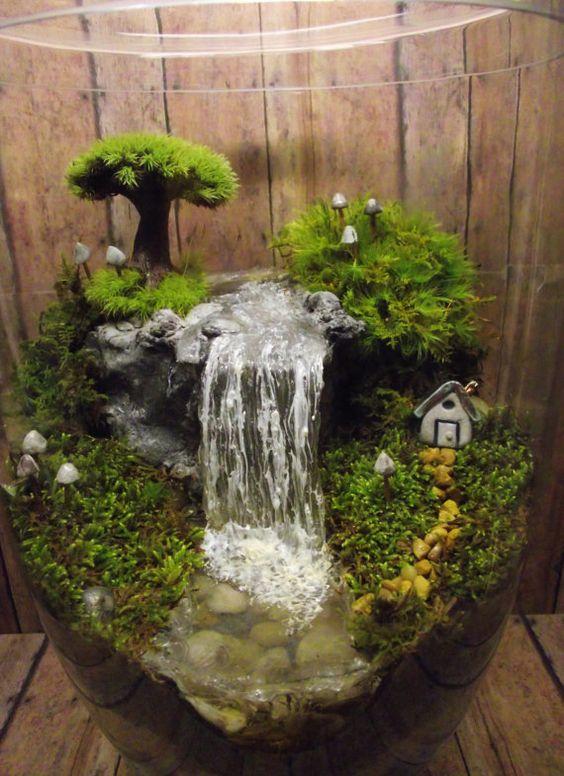 Giardini in miniatura fai da te ecco 20 idee creative - Giardino zen in miniatura ...