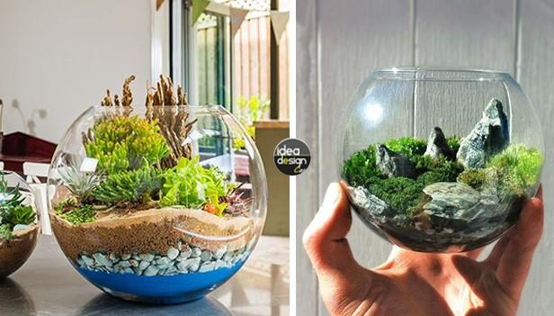 Giardini in miniatura fai da te ecco 20 idee creative - Idee per creare un giardino ...