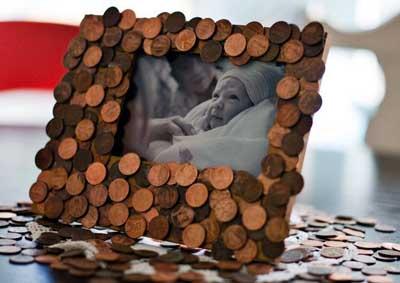 decorare casa con i centesimi