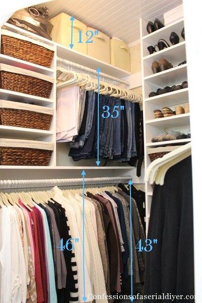 organizzare una cabina armadio in un piccolo appartamento