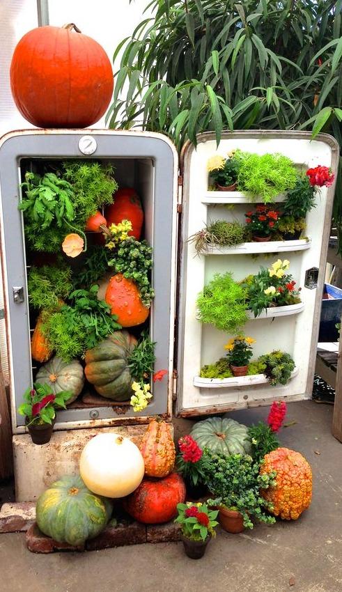 Riciclo creativo vecchio frigorifero