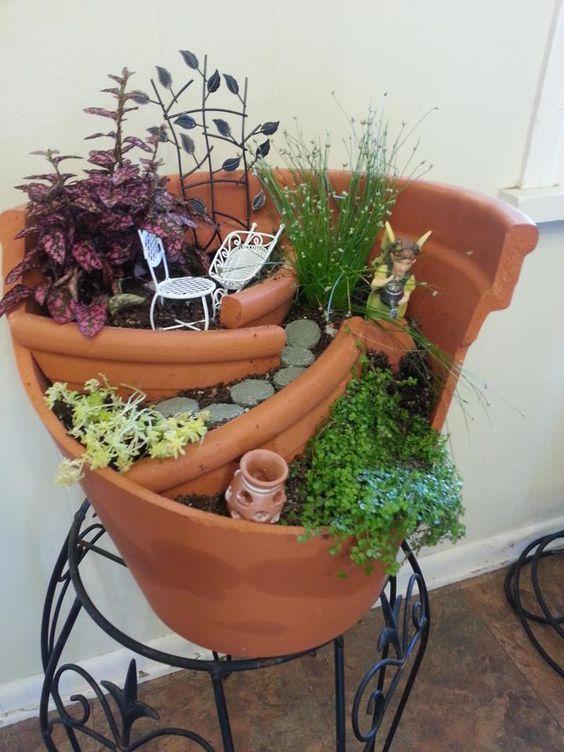 riciclo creativo vasi rotti 17