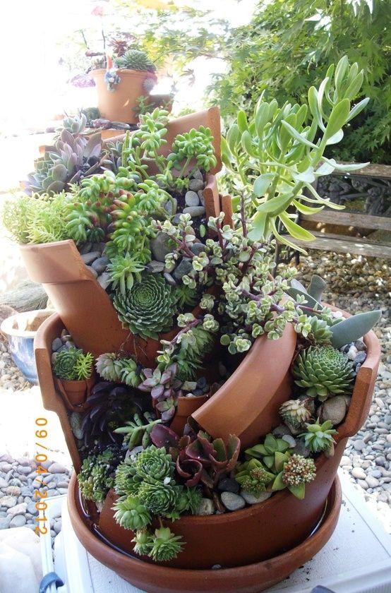 riciclo creativo vasi rotti 4