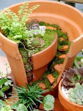 riciclo creativo vasi rotti 8