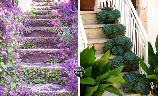 Decorare le scale esterne con i fiori 20 idee creative - Azalee da esterno ...