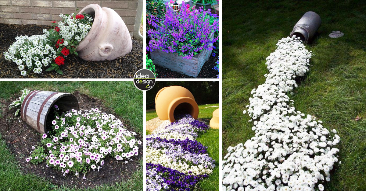 Vaso creativo nel giardino ecco 20 idee a cui ispirarsi for Idee riciclo fai da te
