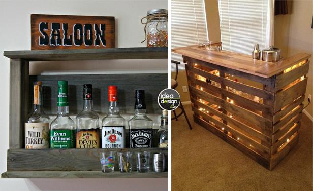 Costruire angolo bar fai da te - Mobili bar da casa ...