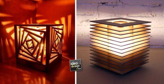 Lampadari fai da te realizzati con il cartone 20 idee for Idee design fai da te