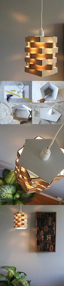 lampadario fai da te cartone 1