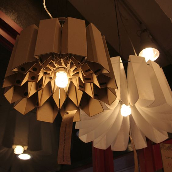 lampadari fai da te realizzati con il cartone! 20 idee -> Lampadario Ombrello Fai Da Te