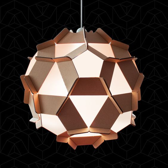 Diy chandeliers made with cardboard 20 ideas diy cardboard chandelier 14 mozeypictures Images