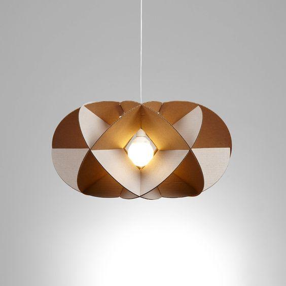 Diy chandeliers made with cardboard 20 ideas diy cardboard chandelier 17 aloadofball Gallery