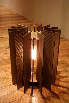 lampadario fai da te cartone 2