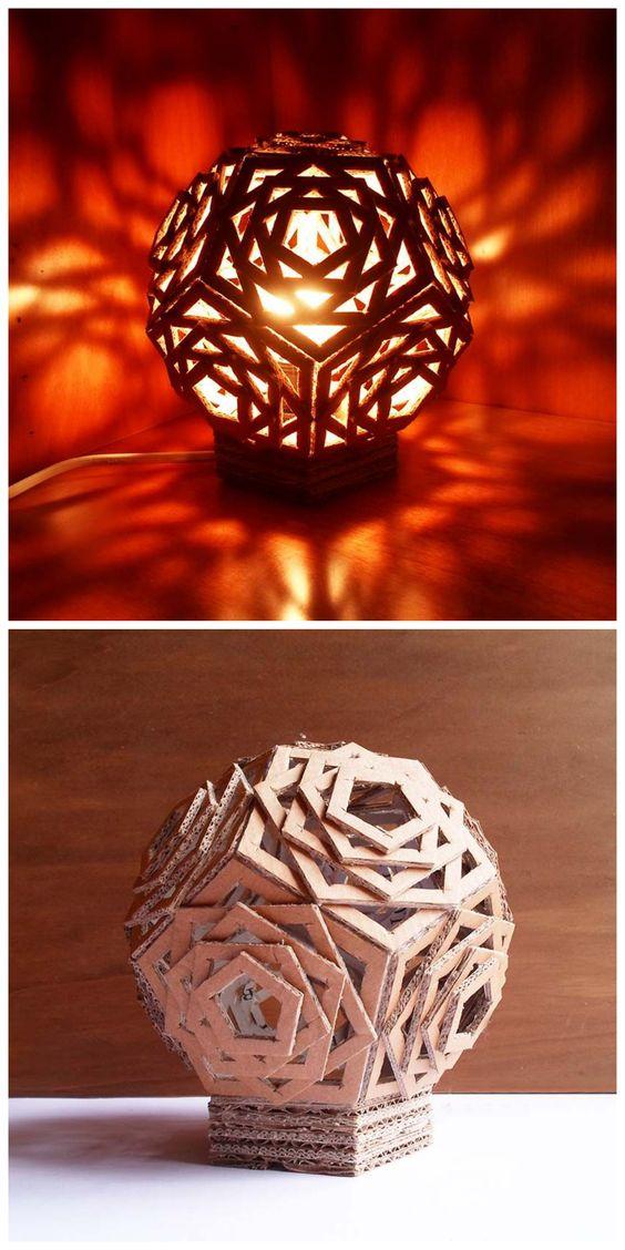 Lampade di cartone fai da te ~ idee di design nella vostra