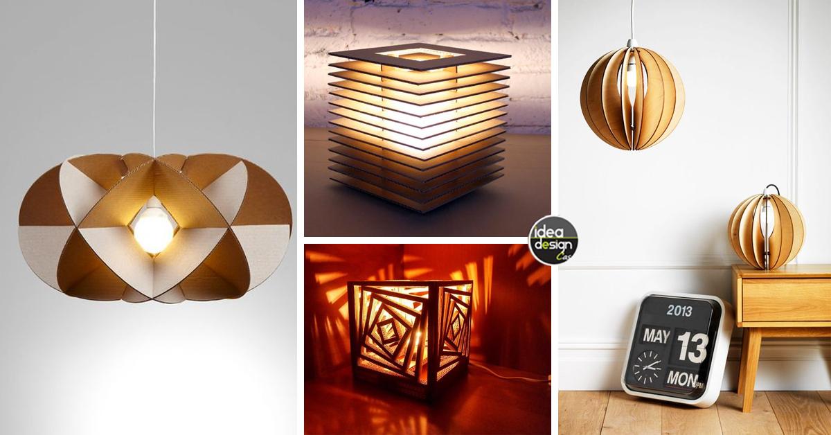 lampadari fai da te realizzati con il cartone! 20 idee