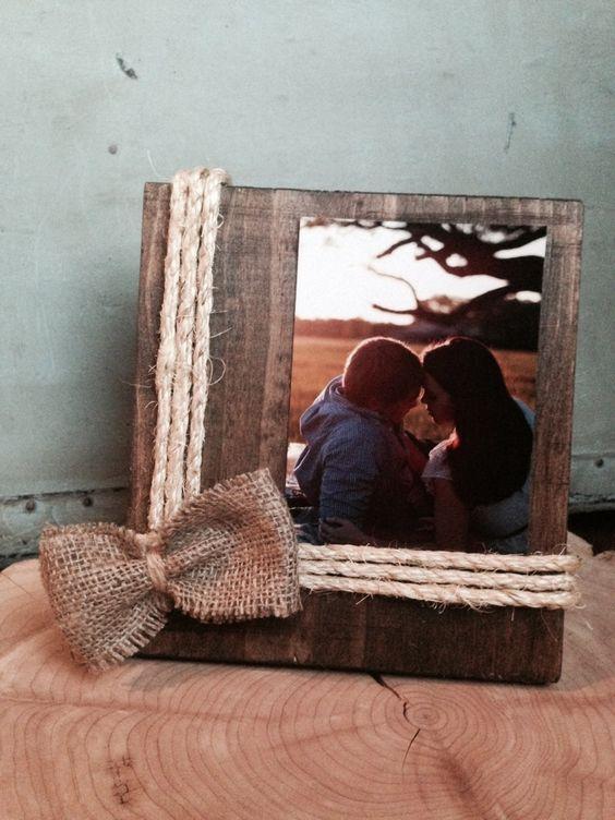 Portafoto fai da te con legno riciclato! 18 idee creative...