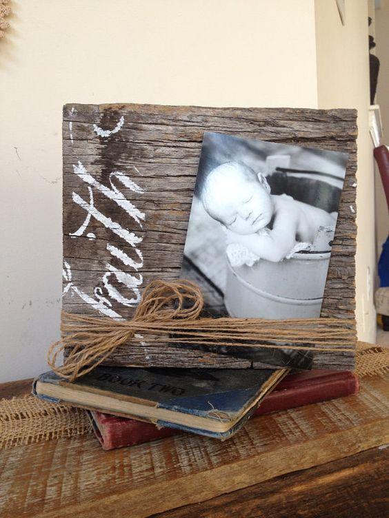 Eccezionale Portafoto fai da te con legno riciclato! 18 idee creative MZ89
