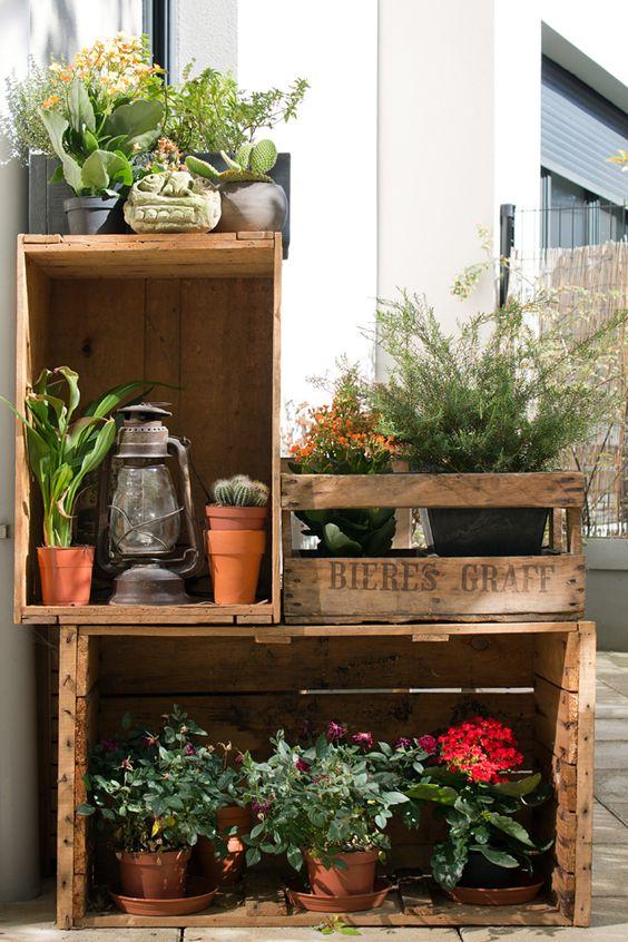 Preferenza Decorare il giardino con le cassette di legno! 20 idee VS91