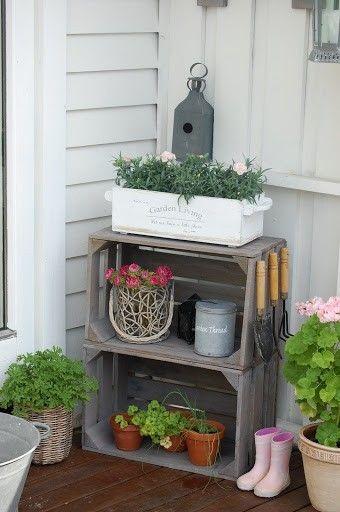 Decorare il giardino con le cassette di legno 20 idee for Foro de decoracion facilisimo