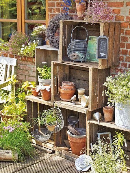 Molto Decorare il giardino con le cassette di legno! 20 idee GS16