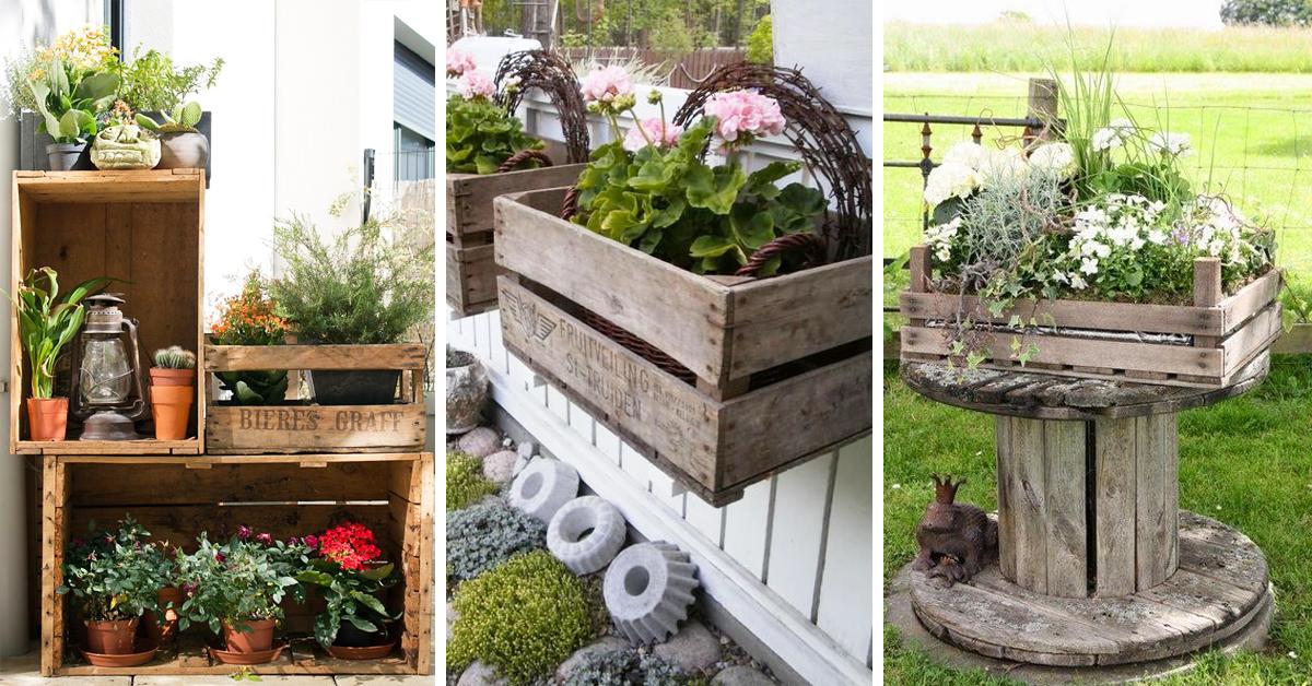 Decorare il giardino con le cassette di legno 20 idee - Idee per decorare il giardino ...