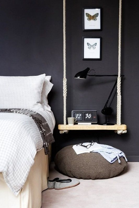 Creare un comodino alternativo in camera da letto! 20 idee..