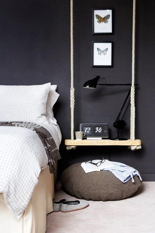 Creare un comodino alternativo in camera da letto! 20 idee..
